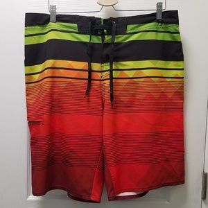 Hang Ten Boardshorts Swim Trunks Gradient Shorts
